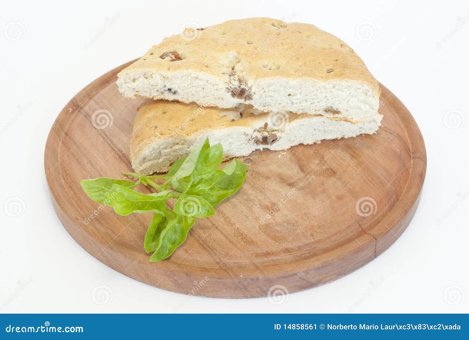 Bread with pork skin