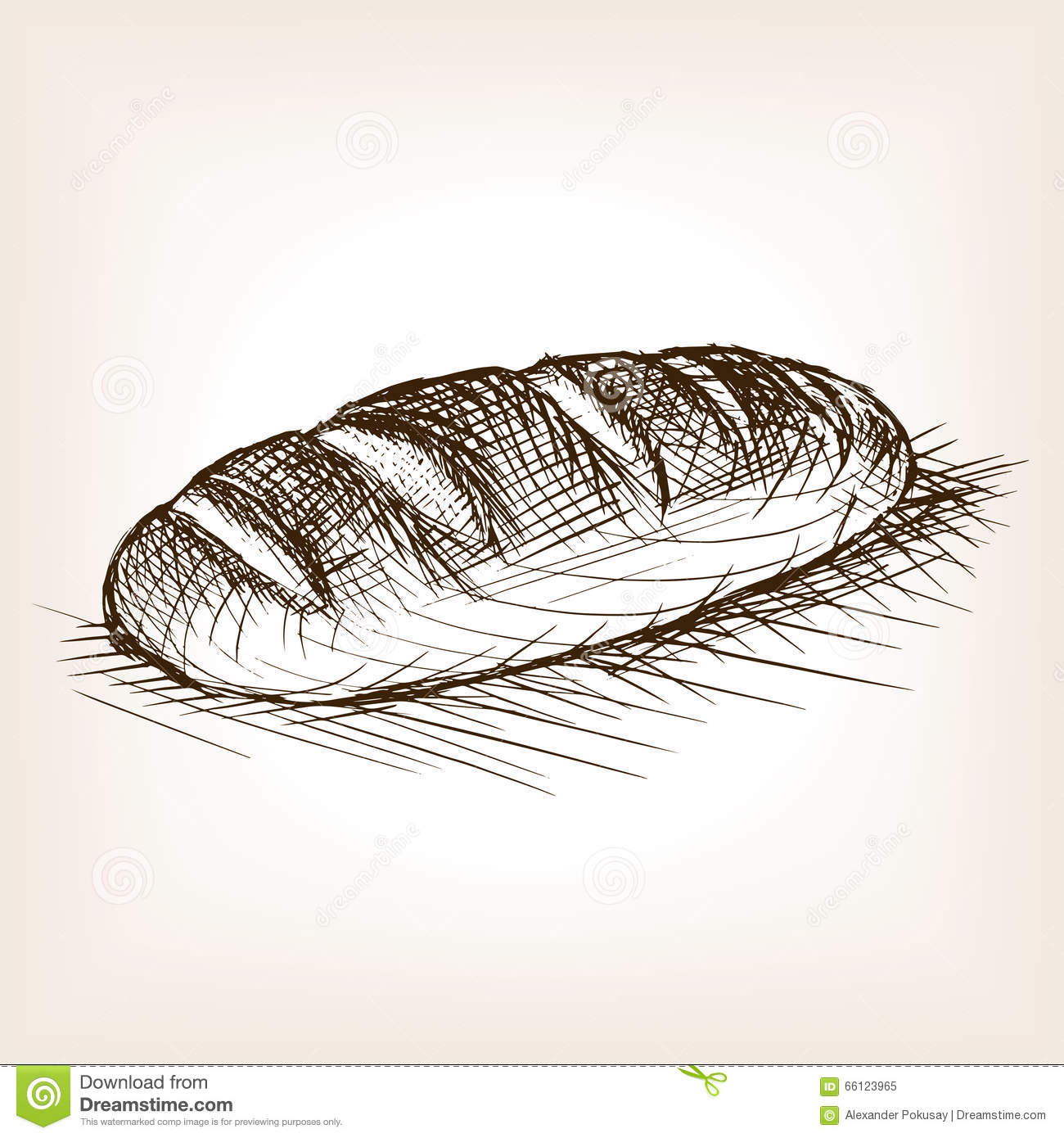 Loaf Of Bread Sketch bread sketch style vector illustration stock ...