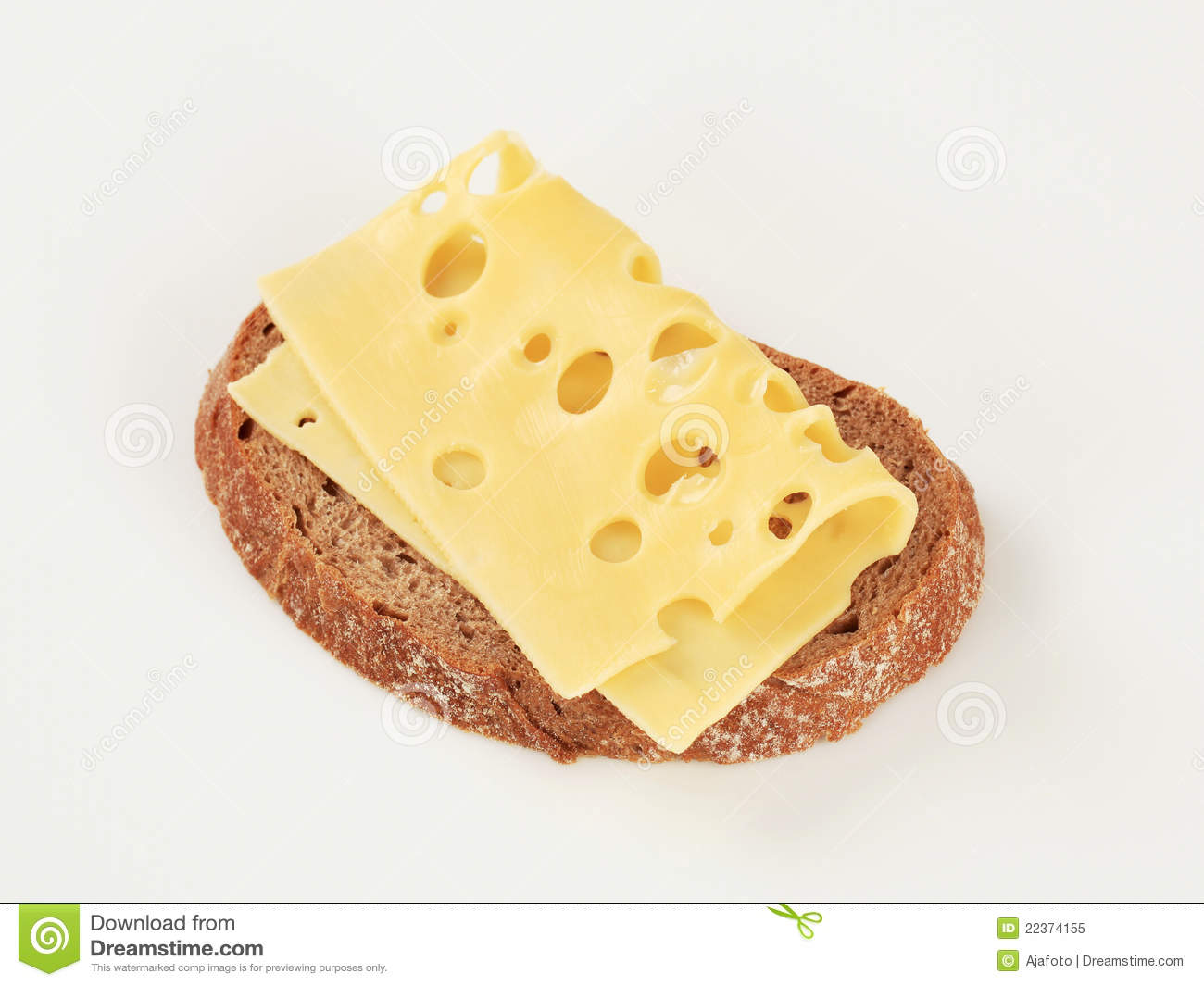 Bread And Swiss Cheese Royalty Free Stock Photo - Image: 22374155