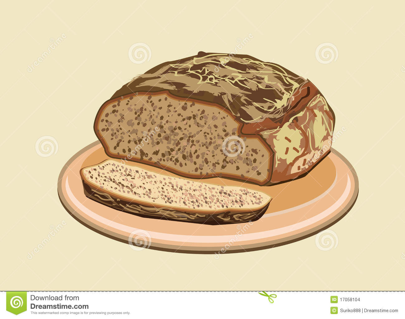 Bread Vector Illustration Stock Vector Image Of