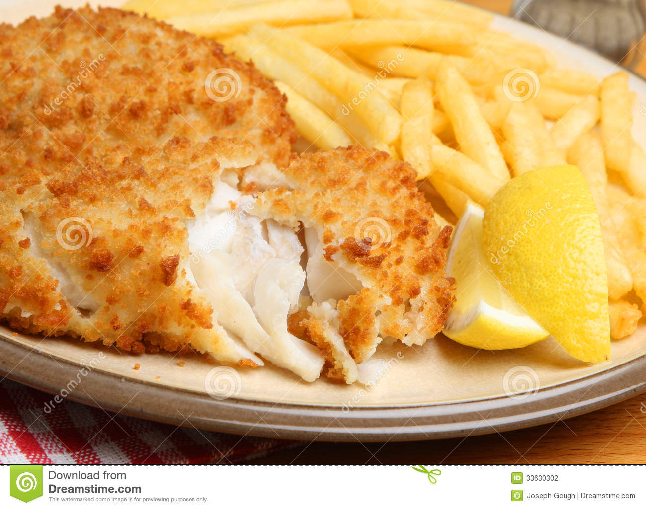 Breaded fish fillet fries stock photography image for How to bread fish