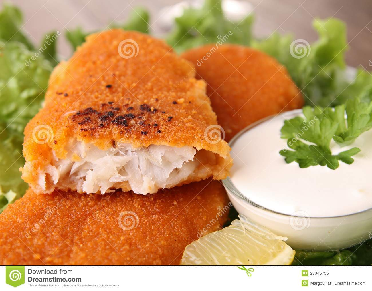 Breaded fish and vegetables royalty free stock image for How to make breaded fish
