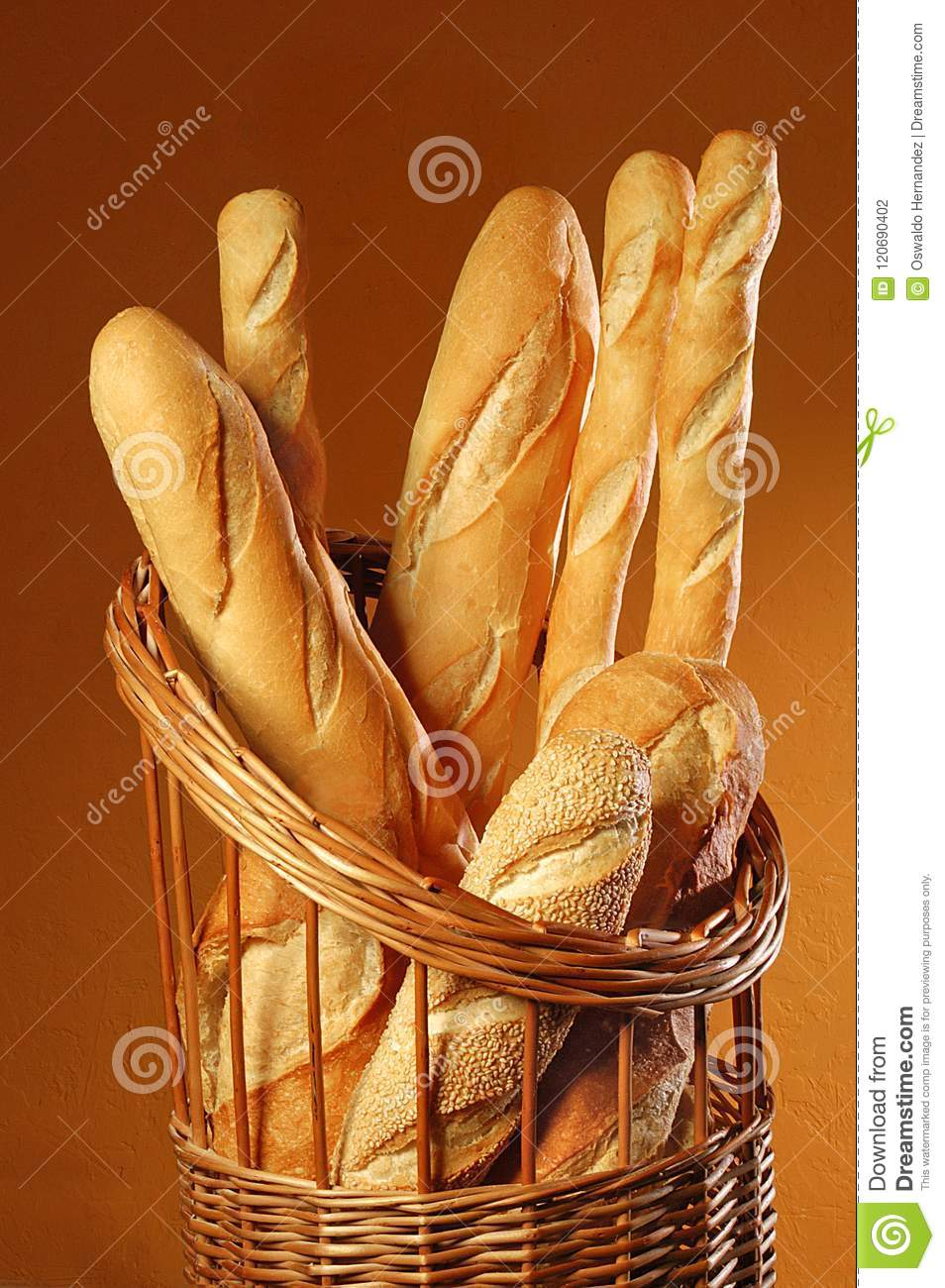 Breads Stock Photo Image Of Padaria Loaf Seed Sesame 120690402