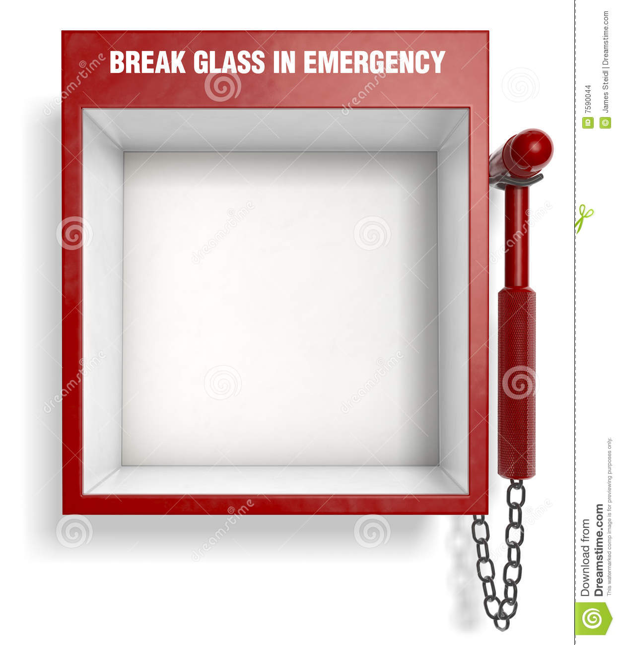 An empty fire extinguisher emergency box. Easily place your own ...