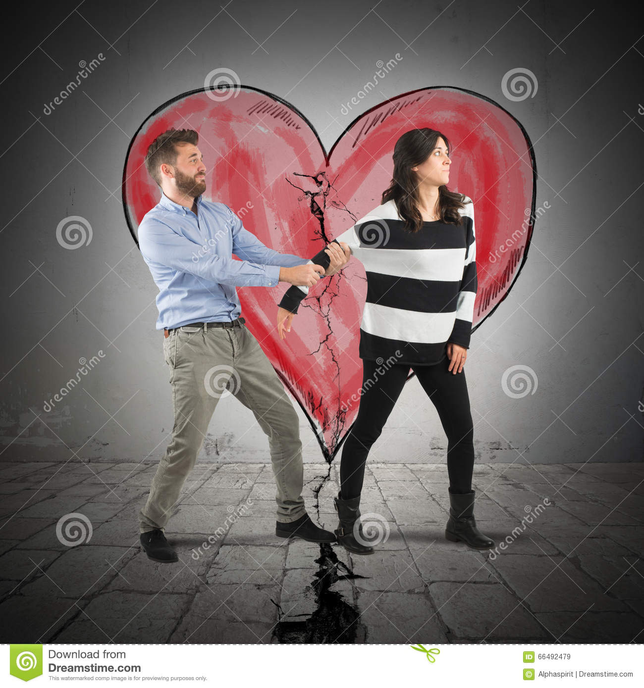 Break Heart Stock Image Image Of Conflict Anhappy Argument 66492479