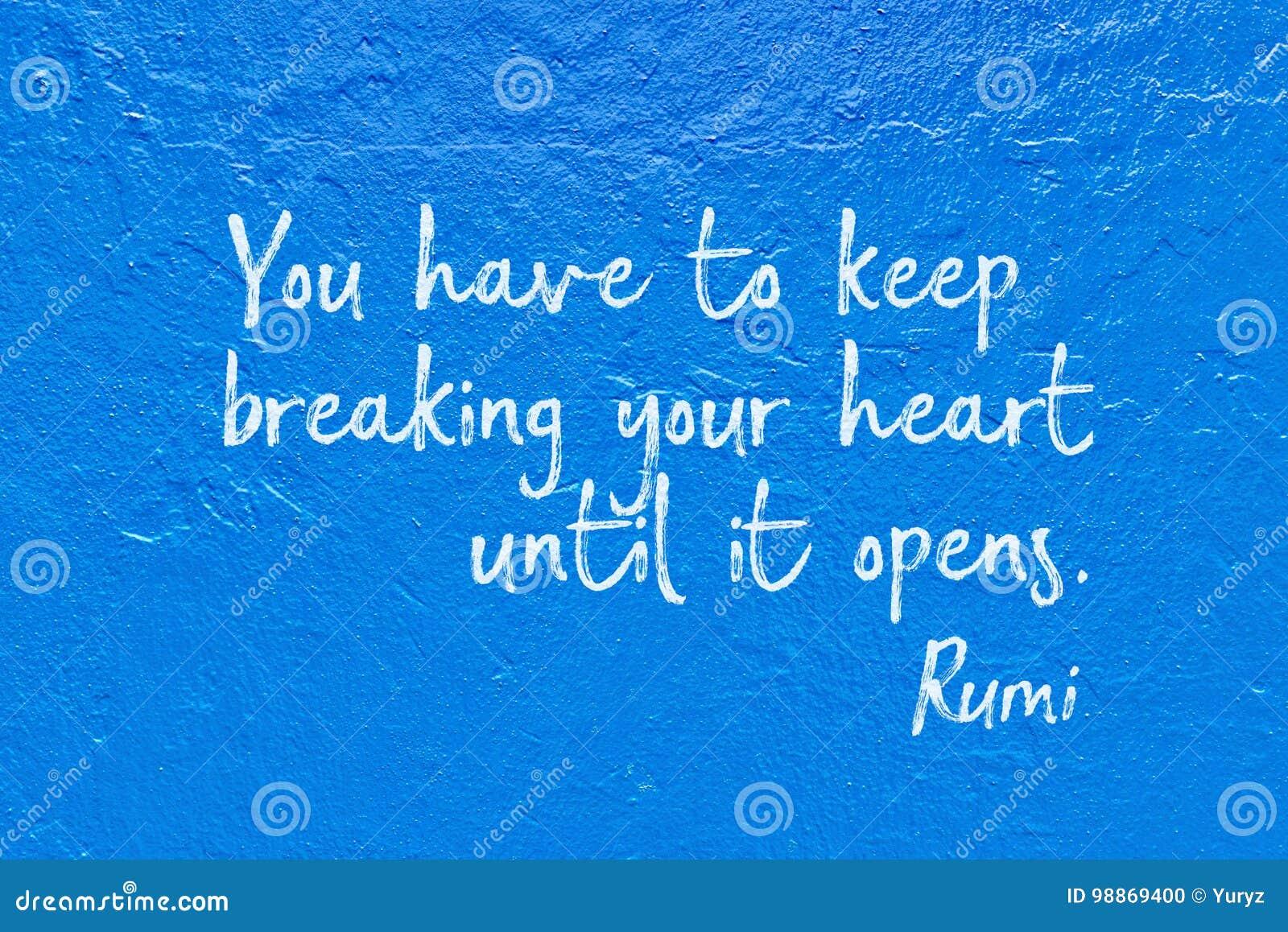 Break Heart Rumi Stock Photo Image Of Ancient Color 98869400