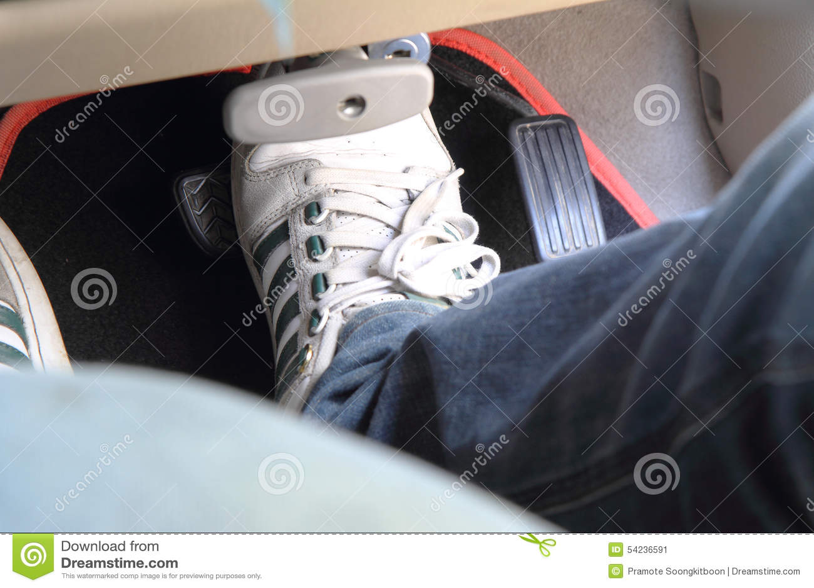 break pedal in the car stock image image of transport 54236591. Black Bedroom Furniture Sets. Home Design Ideas