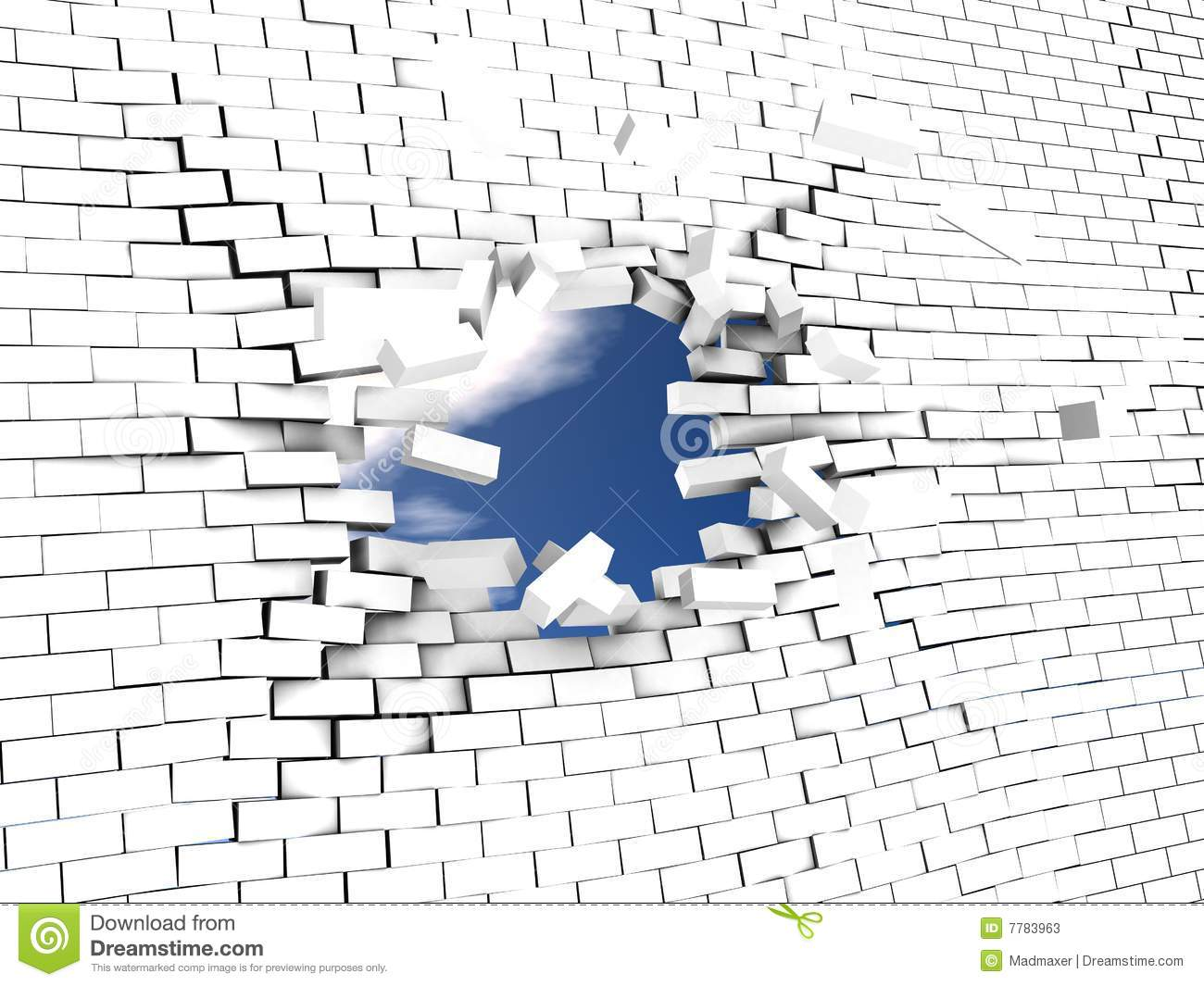 Break The Wall Stock Photos Image 7783963
