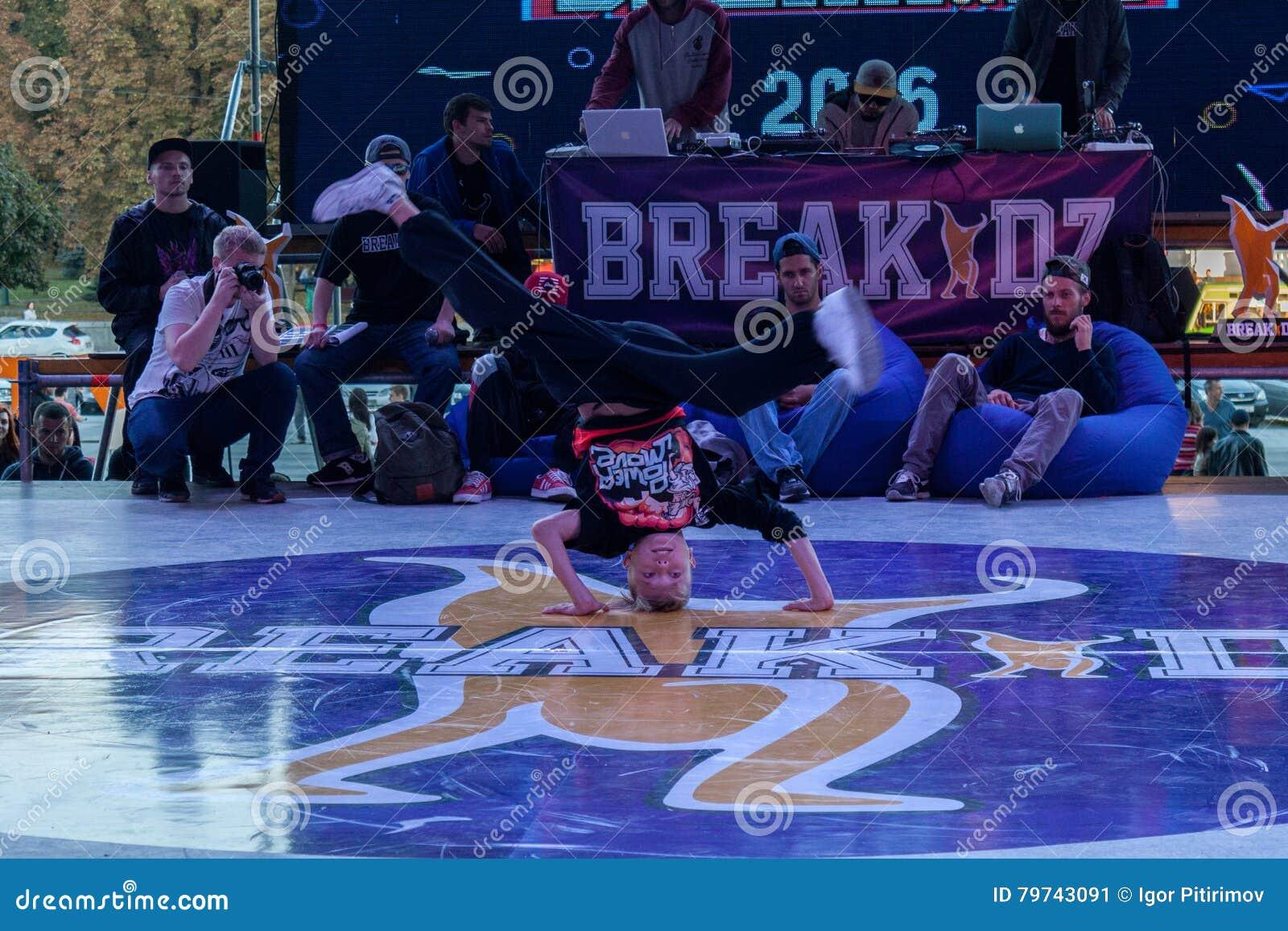 Breakdance profesional del baile del atleta