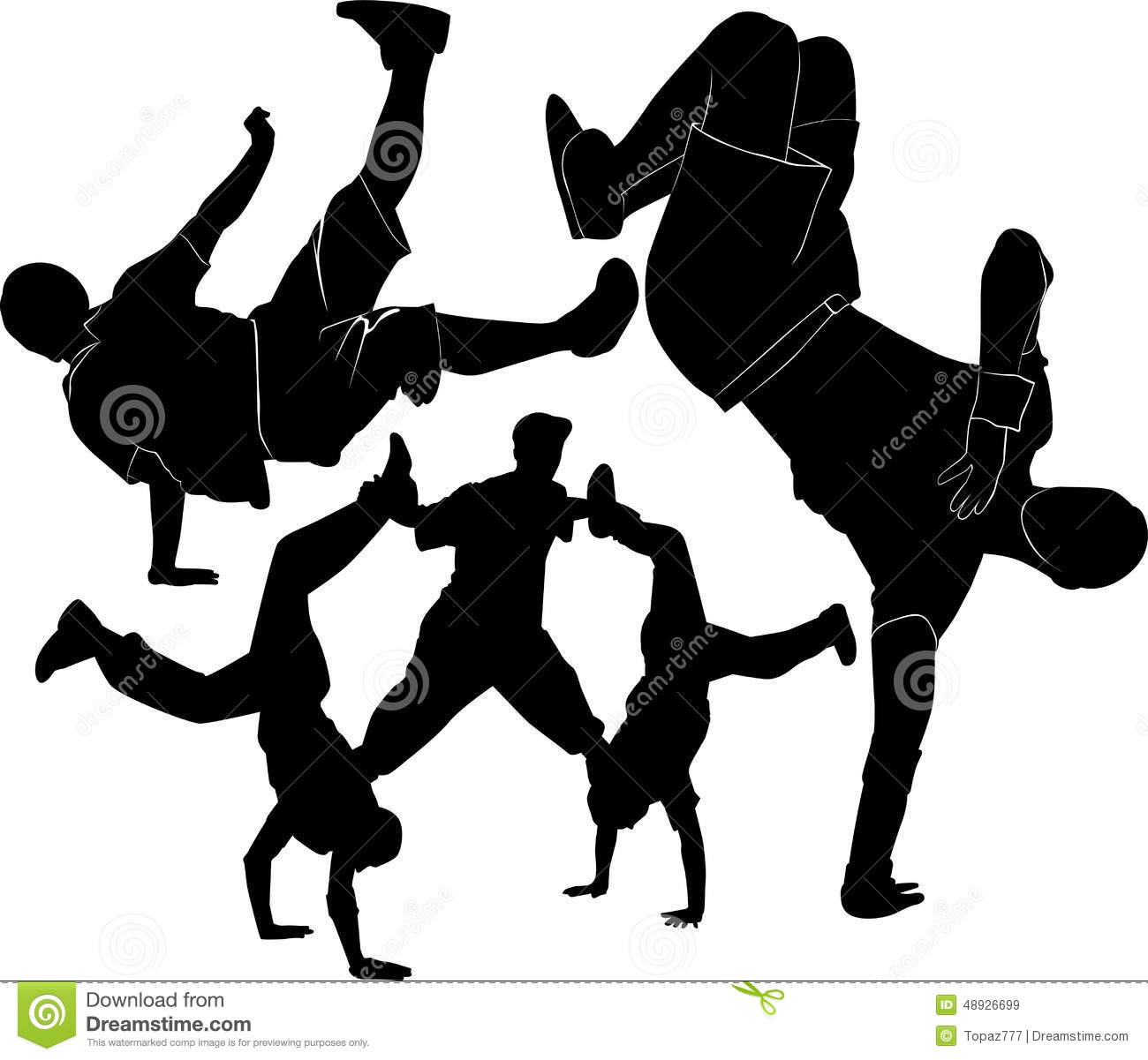 Breakdance silhouette stock vector. Illustration of cool ...
