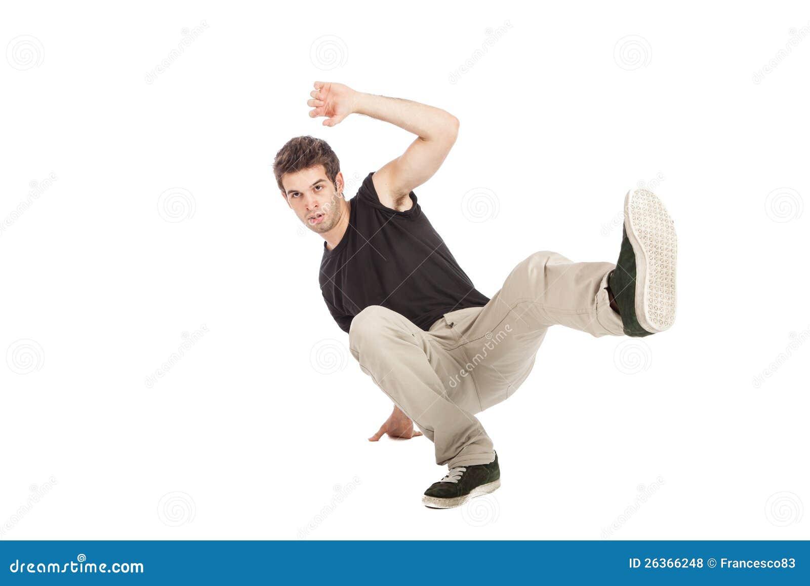 Breakdancer mit schwarzem Hemd