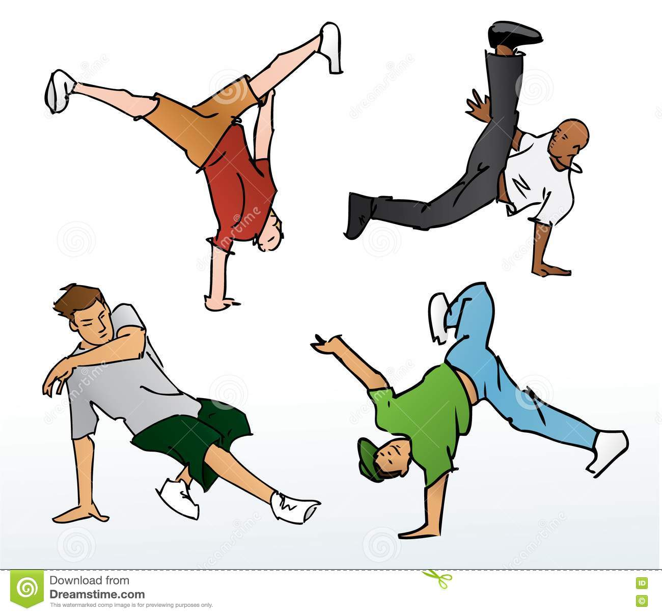 Breakdancing Illustration stock vector. Image of urban ...