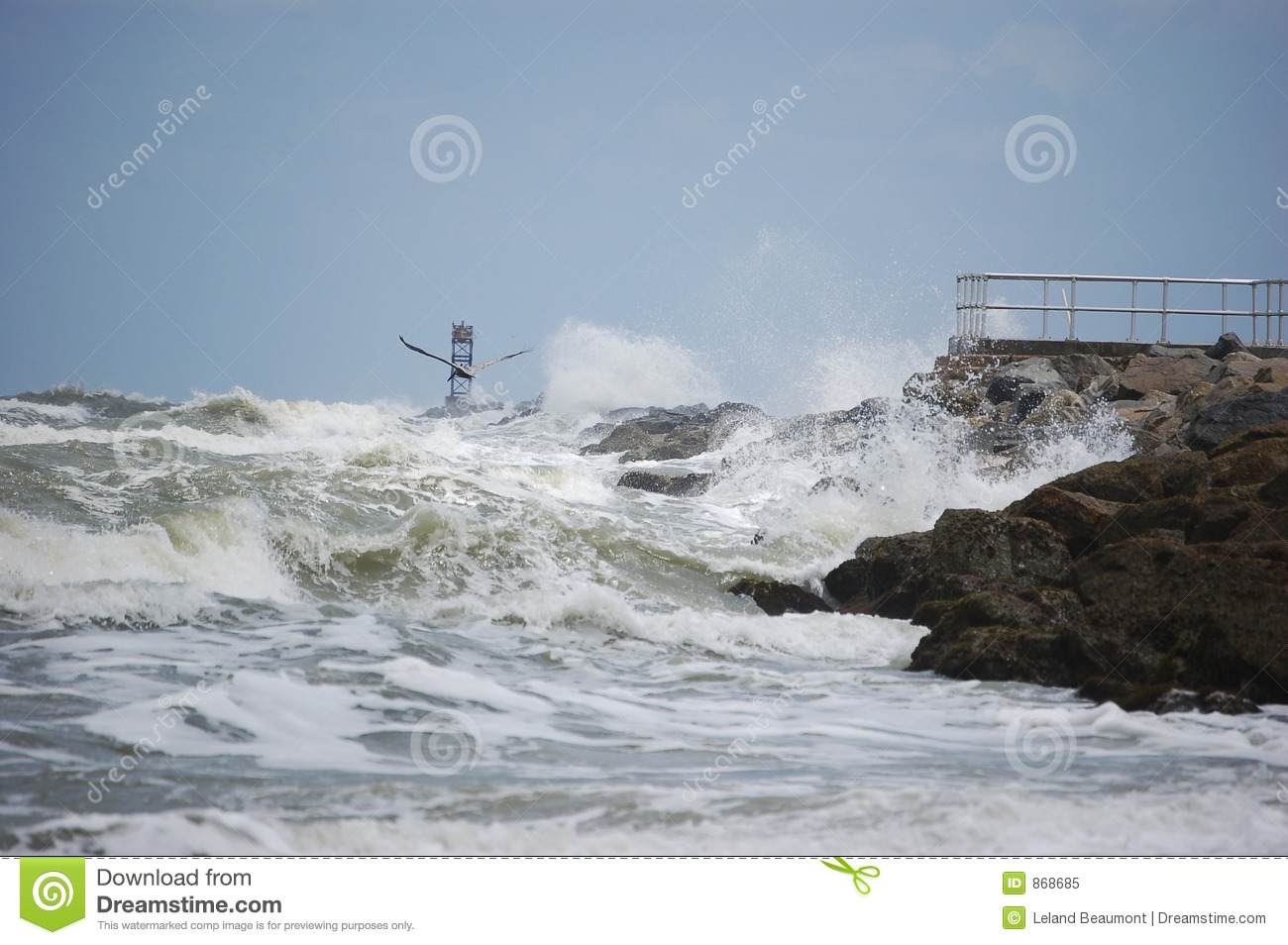 Breakers on the Jetty
