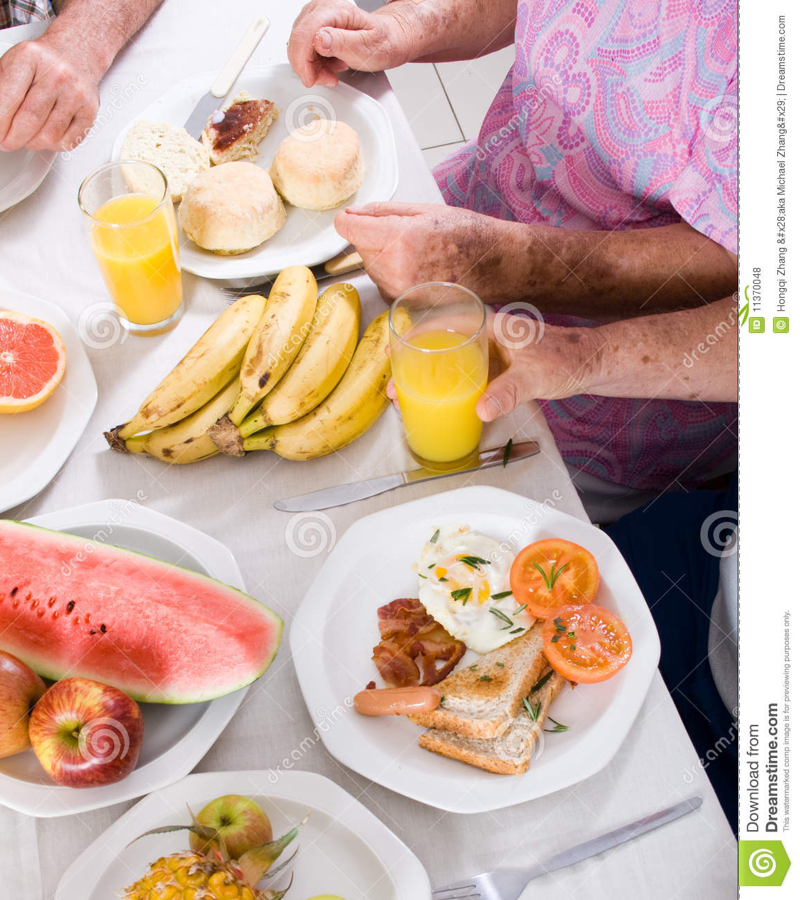 Download Breakfast stock photo. Image of health, elderly, family - 11370048