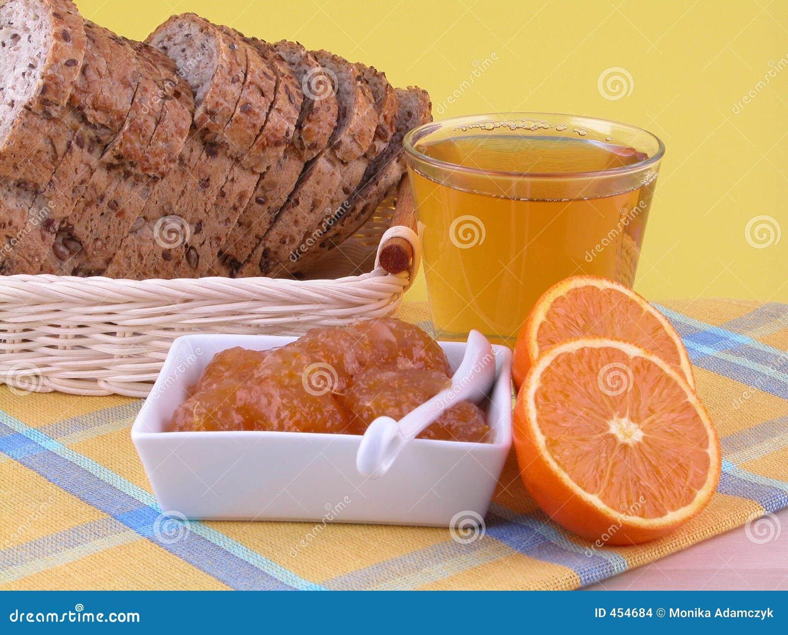 Download Breakfast stock photo. Image of juice, bread, fruit, calorie - 454684