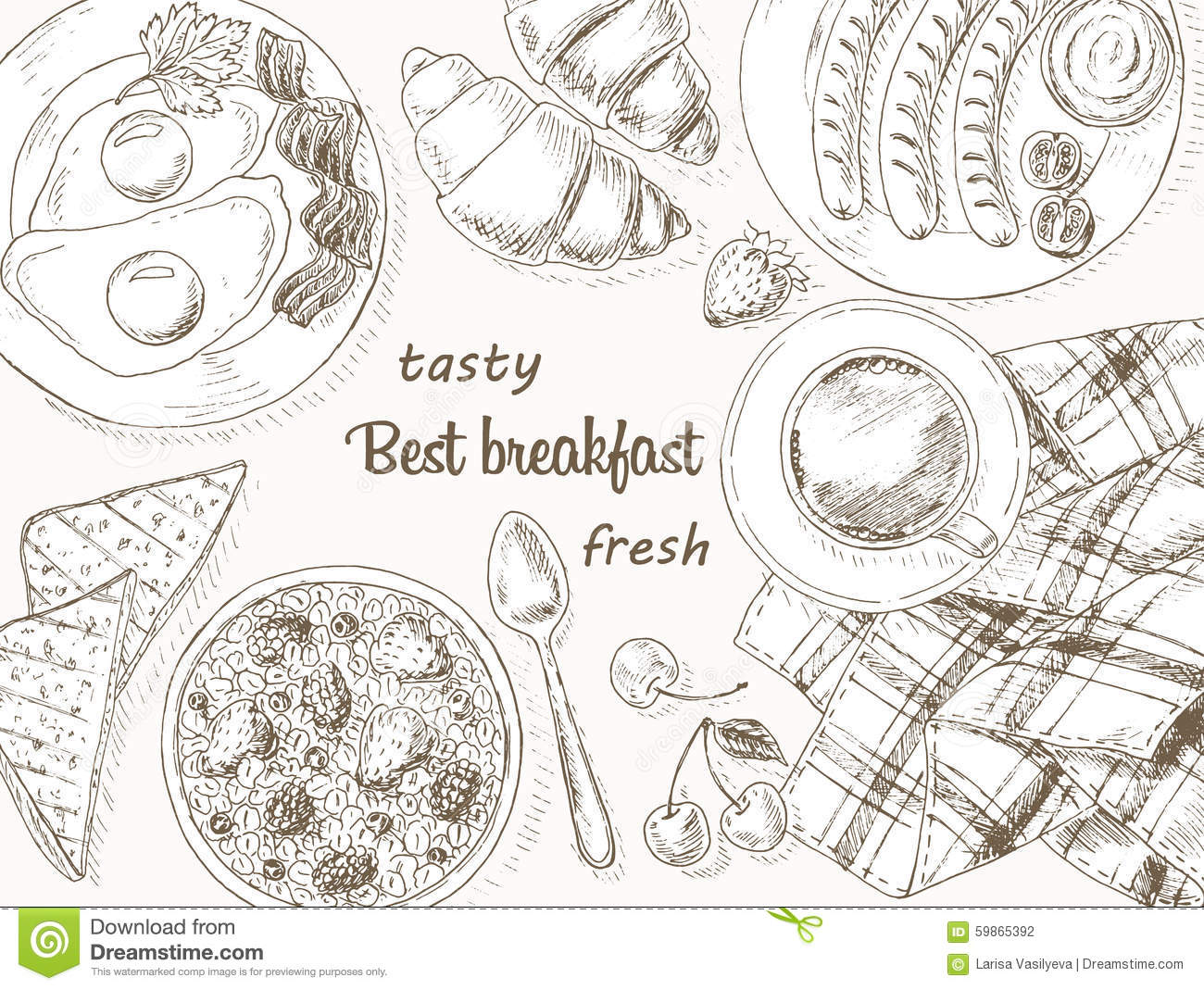 breakfast stock vector illustration of kitchen lunch clipart free no background christmas lunch clipart free