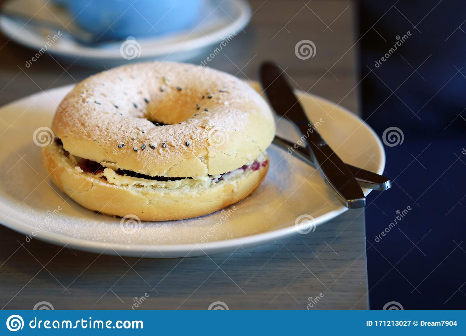 Breakfast Bagel With Toppings Stock Image Image Of Nutrition Freshness 171213027