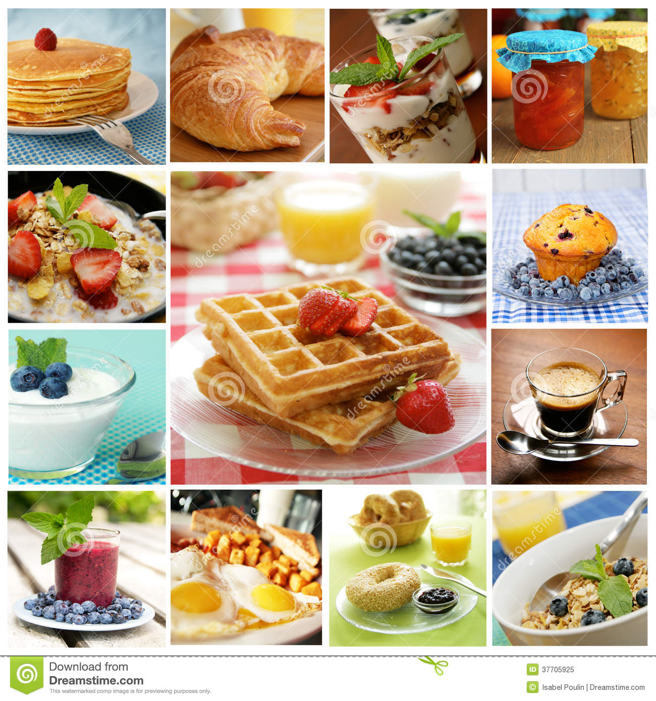 Breakfast Collage Royalty Free Stock Photo Image 37705925