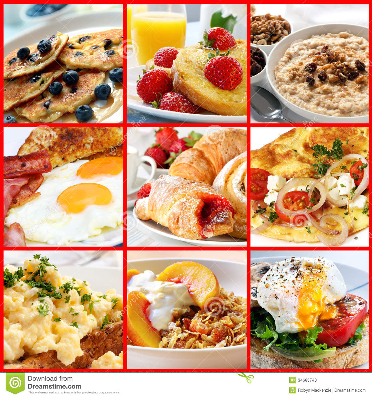 Breakfast collage stock photo image of poached fried for All about french cuisine