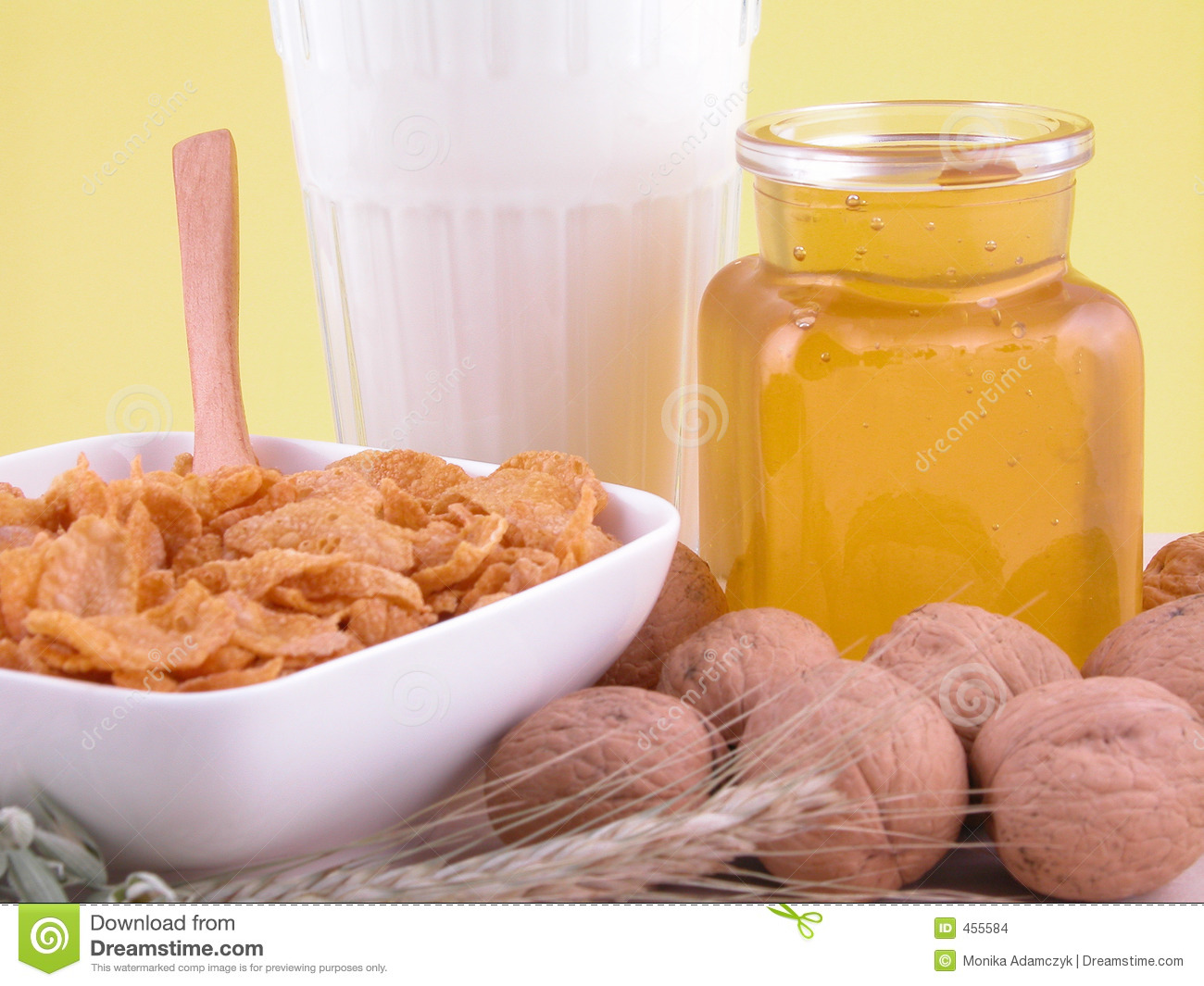 Download Breakfast - on diet stock photo. Image of fitness, walnuts - 455584