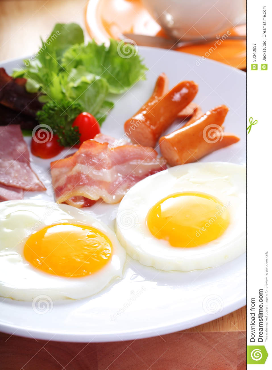 Breakfast With Egg, Ham, Bacon, Sausage Royalty Free Stock Photography ... Fusilli Beef