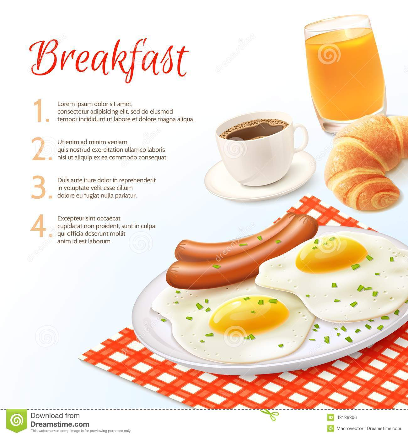 Unhealthy Food Plate Breakfast Food Backgro...