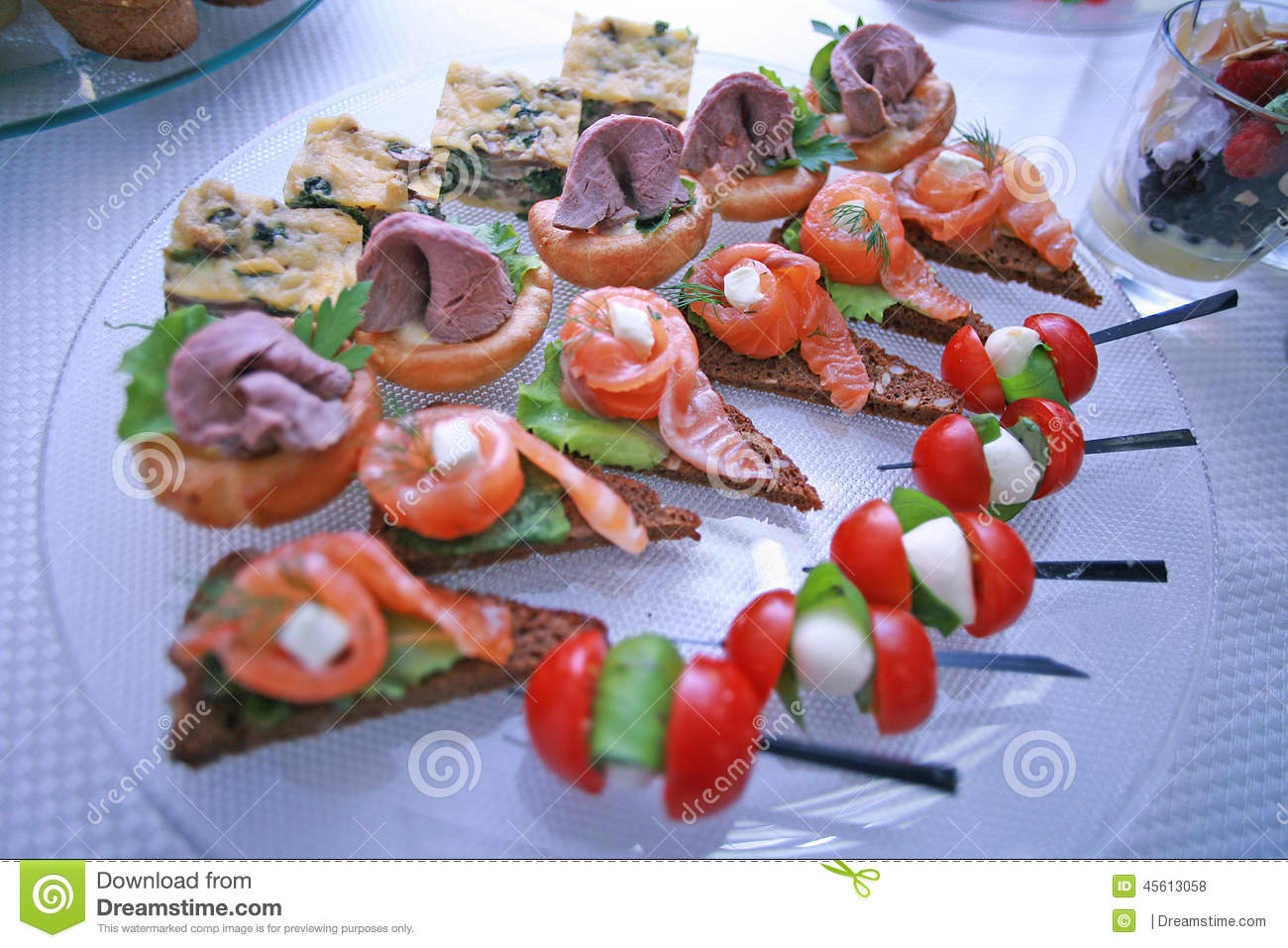 National greek canapes stock photo for Canape wraps