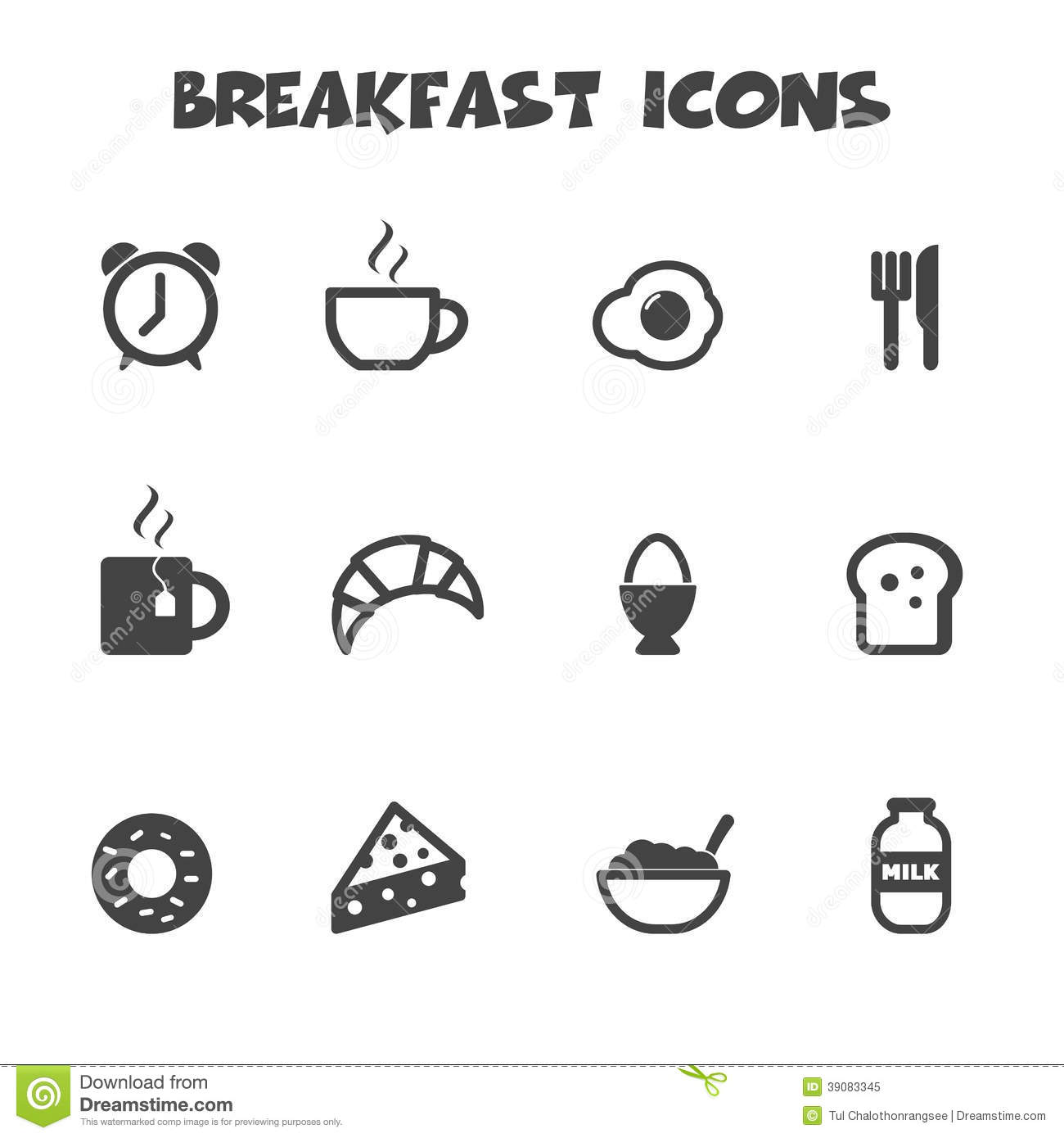 Breakfast icons stock vector illustration of breakfast 39083345 biocorpaavc Image collections