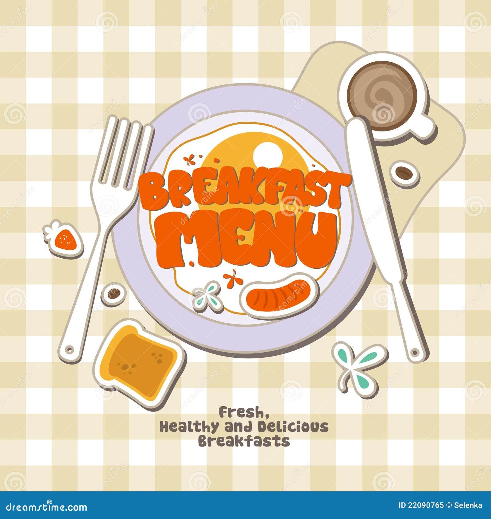 free breakfast menu template