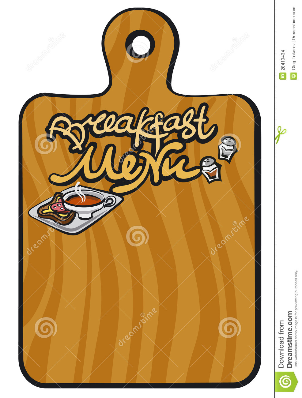 Breakfast Menu Background Stock Images Image 28410434