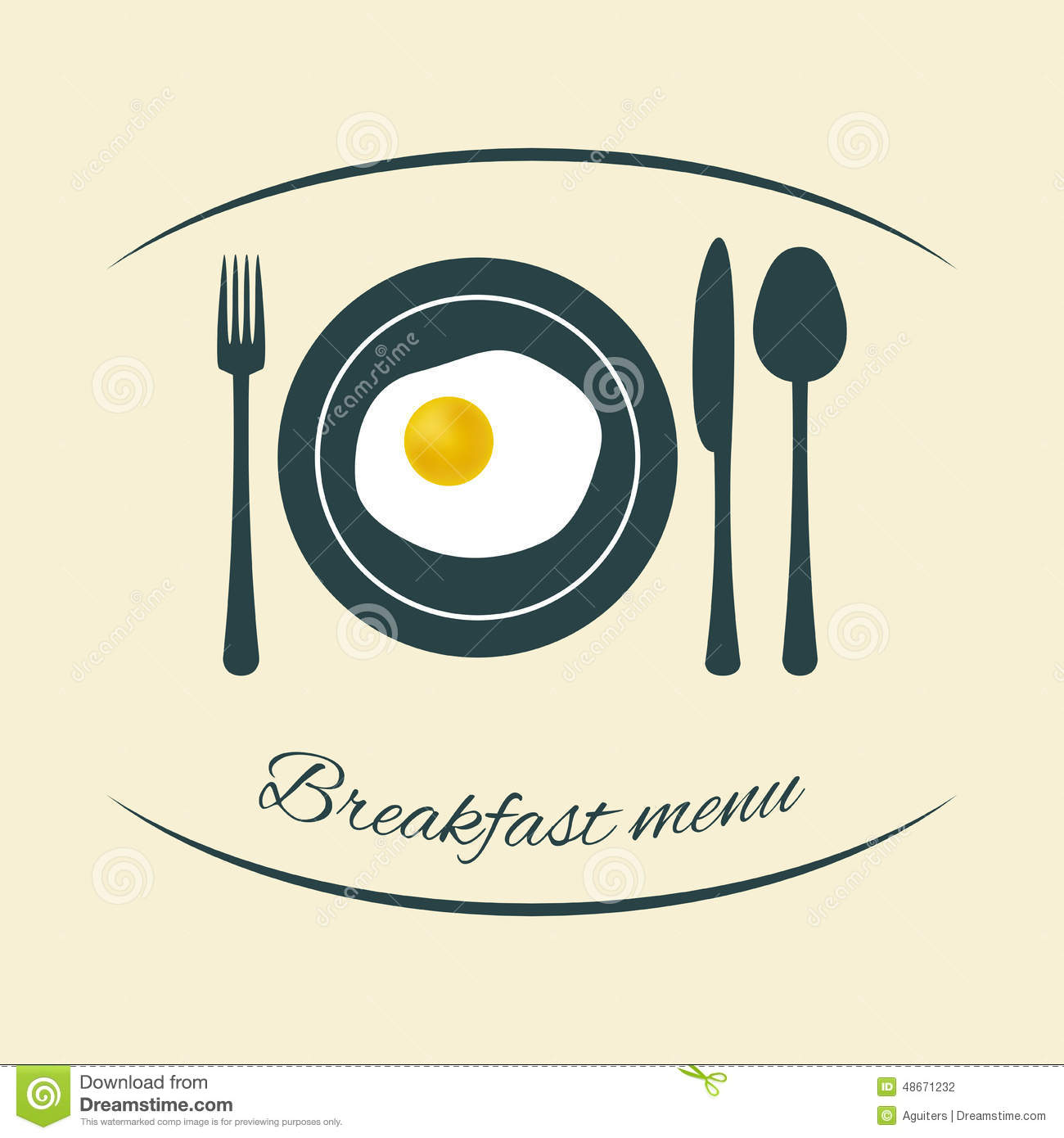 Breakfast Menu Design Stock Vector Image 48671232