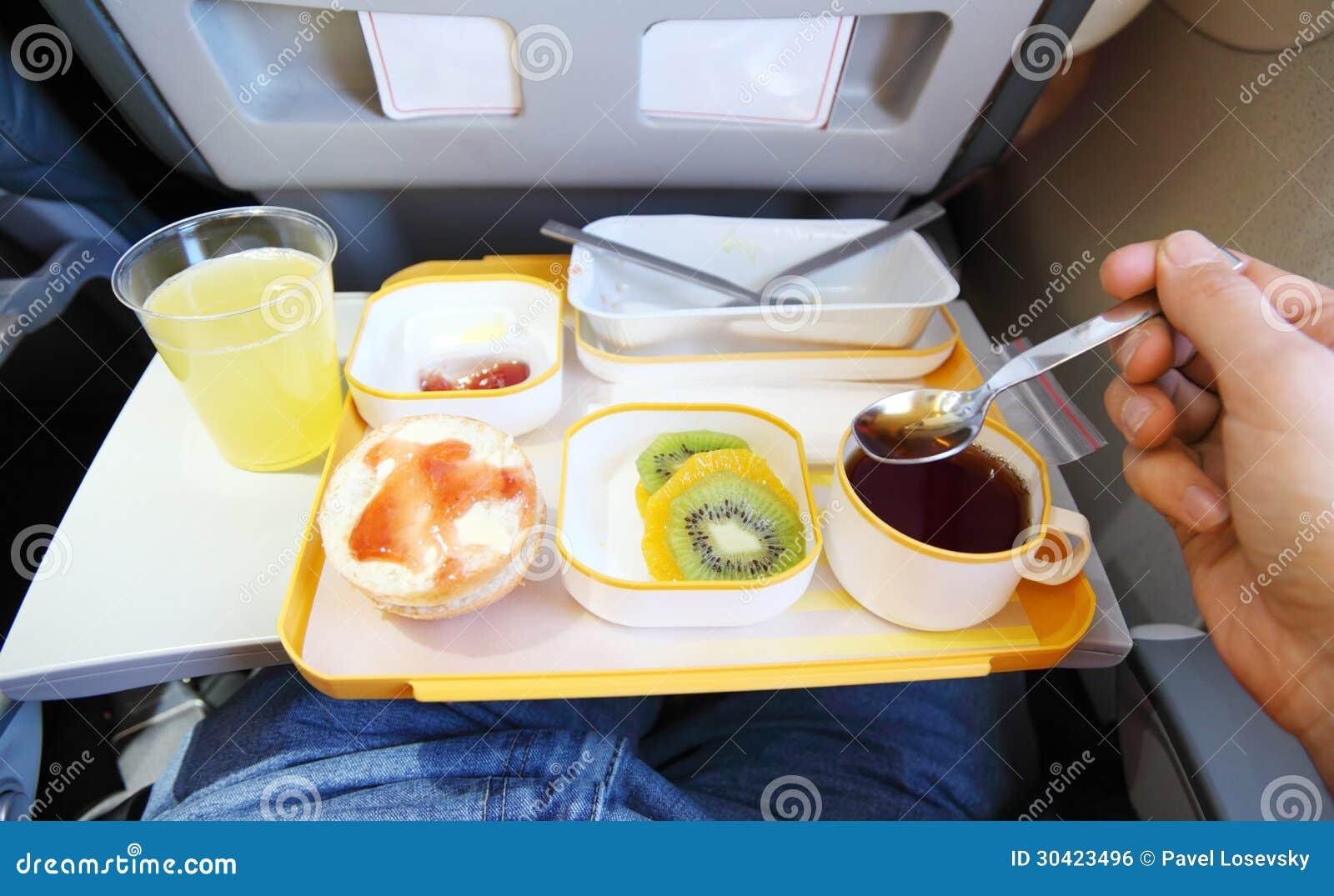 Breakfast in plane