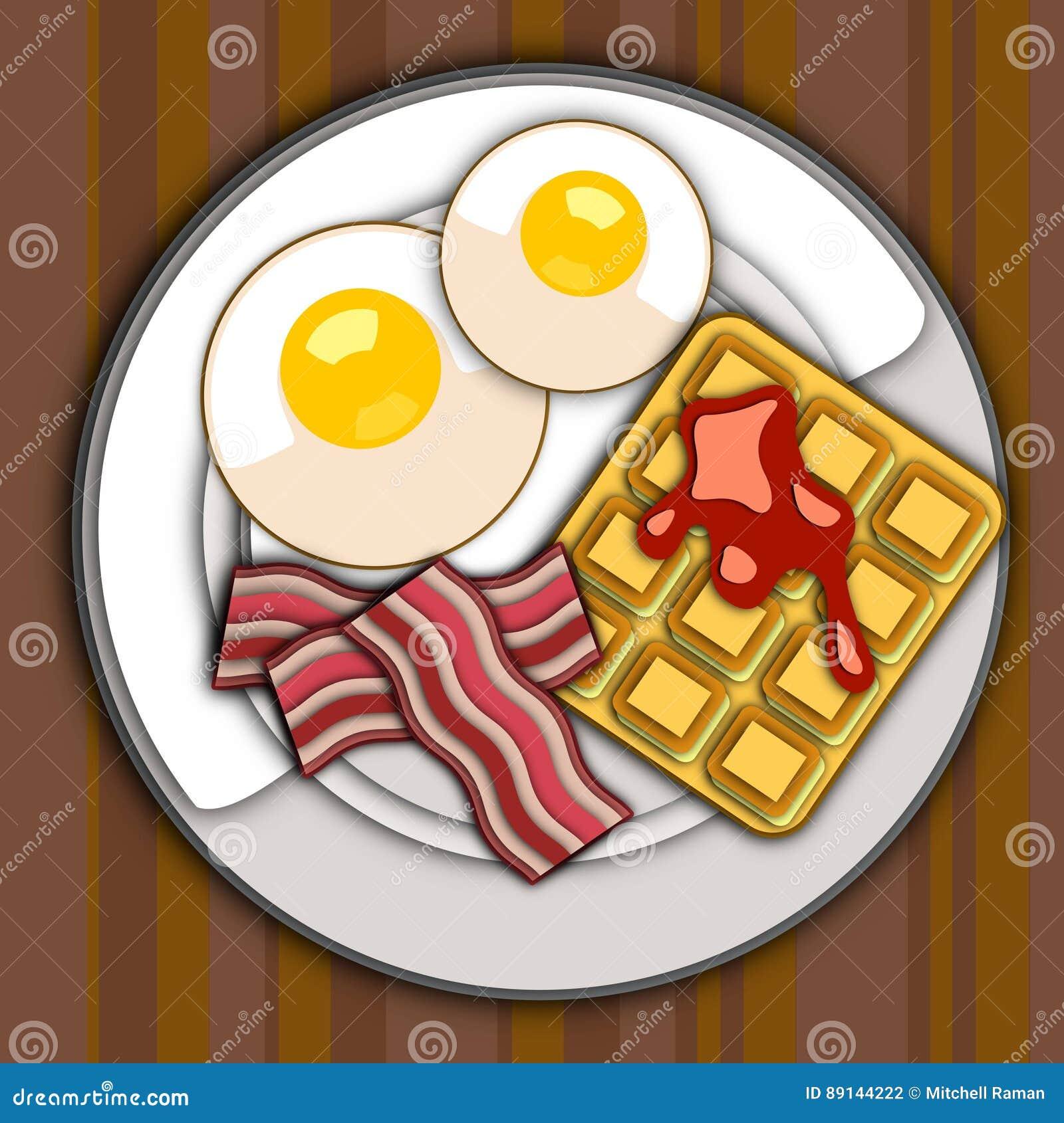 Breakfast Plate Vector Image Stock Vector Illustration Of Logo Fresh 89144222