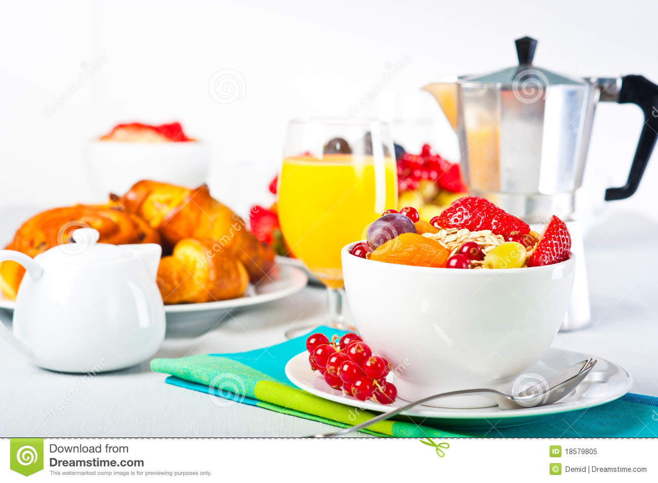 Breakfast Table Royalty Free Stock Photo Image 18579805