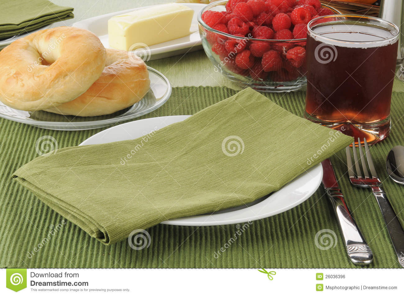 Table Setting For Breakfast Breakfast Table Setting Royalty Free Stock Image Image 26036396