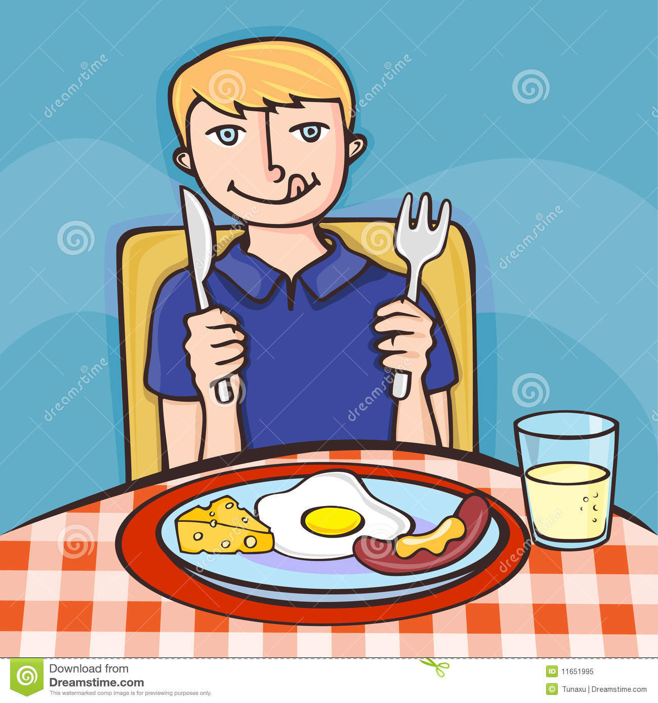 Boy Eating Breakfast Clipart Boy eating his breakfastKids Eating Breakfast At School Clipart