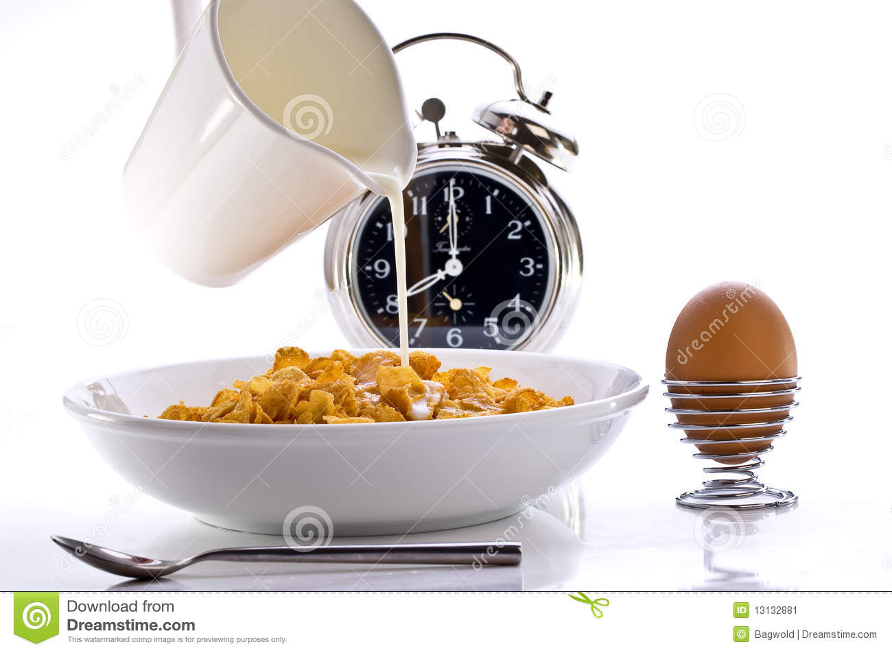 breakfast time stock image