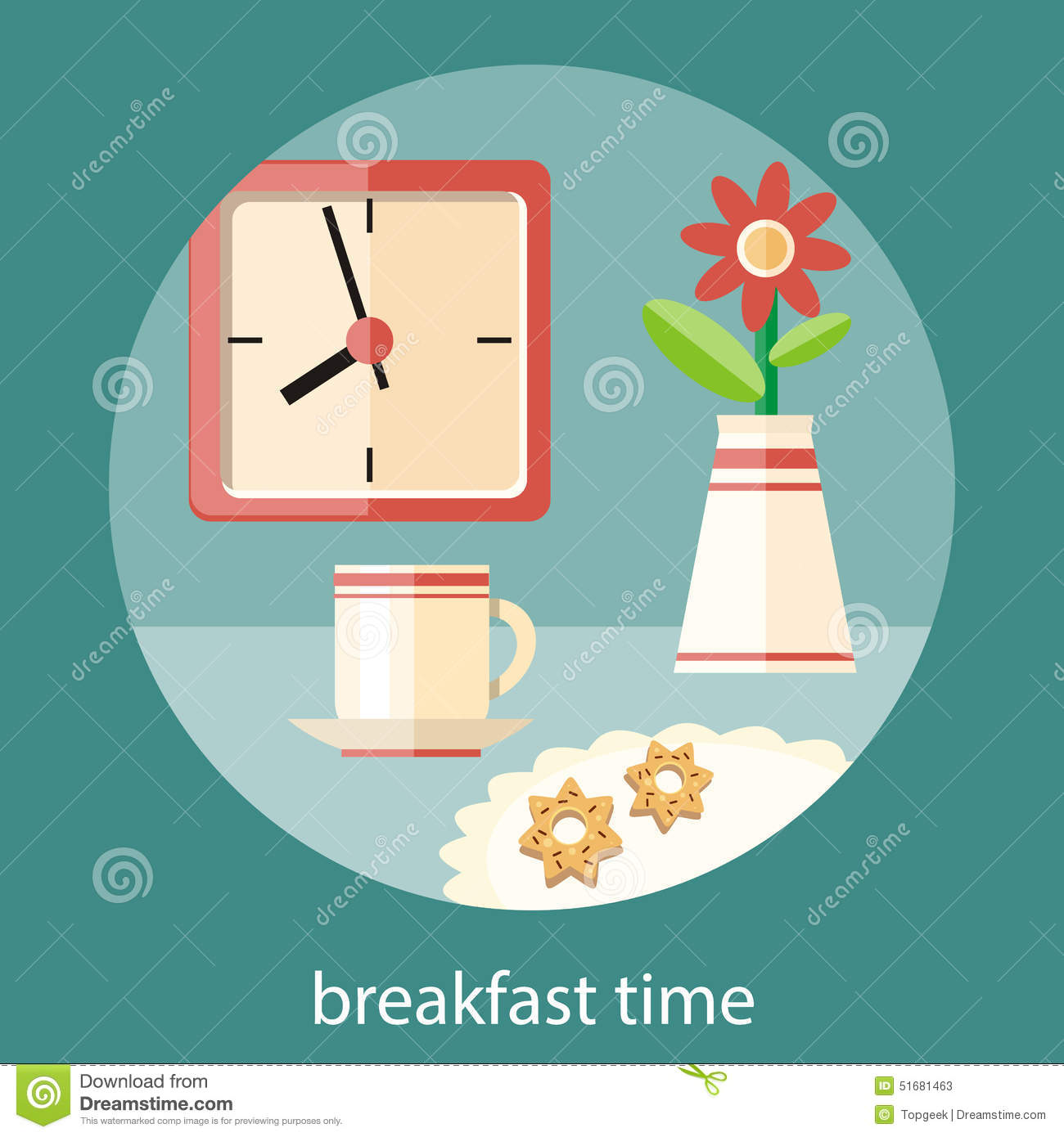 Breakfast,Lunch,Dinner Time Concept Stock Image ...