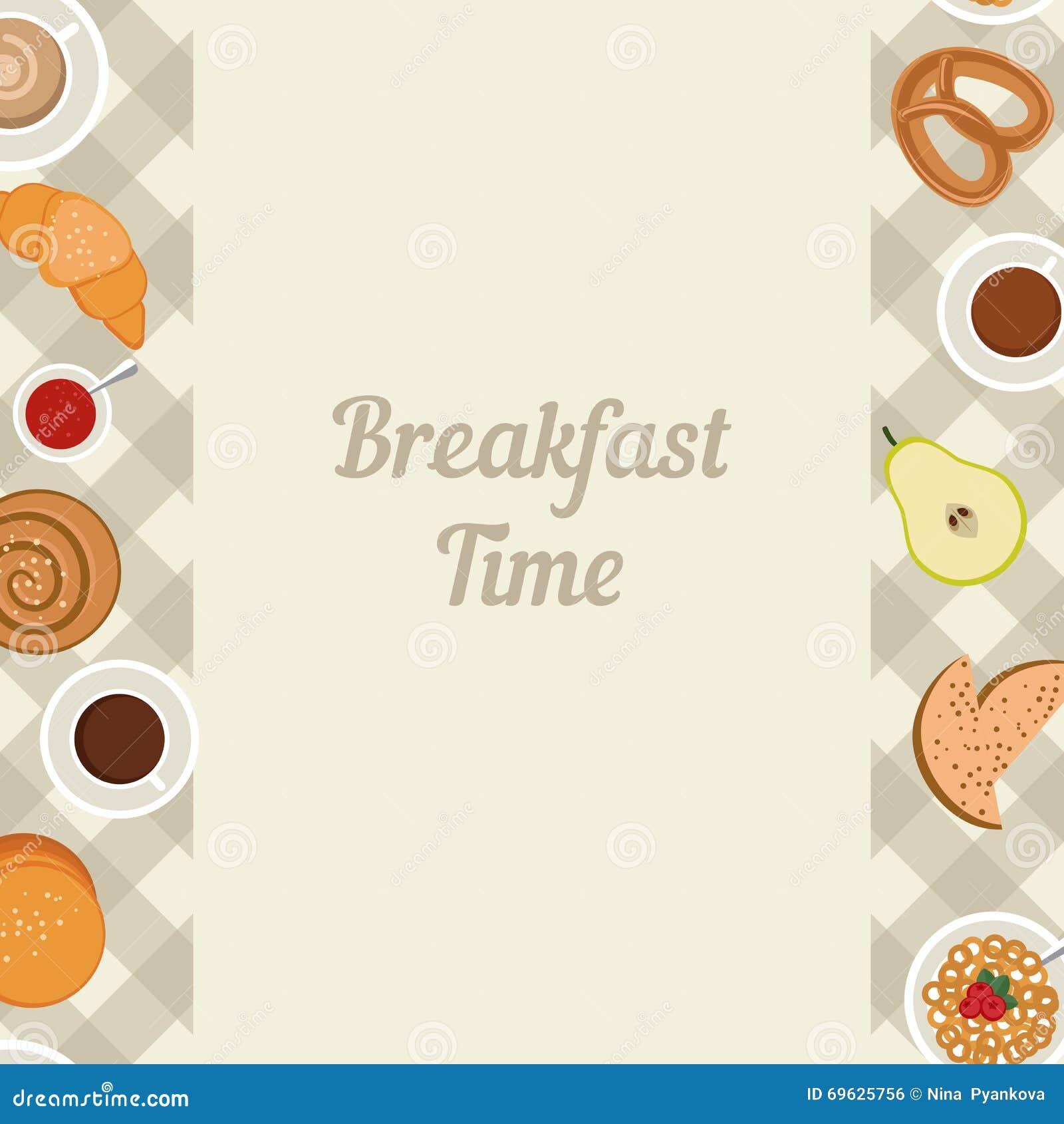 breakfast time illustration stock vector - illustration of bread