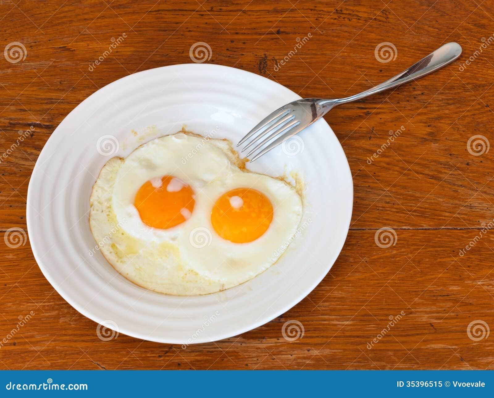 Fried eggs on a plate  |Fried Eggs On A Plate