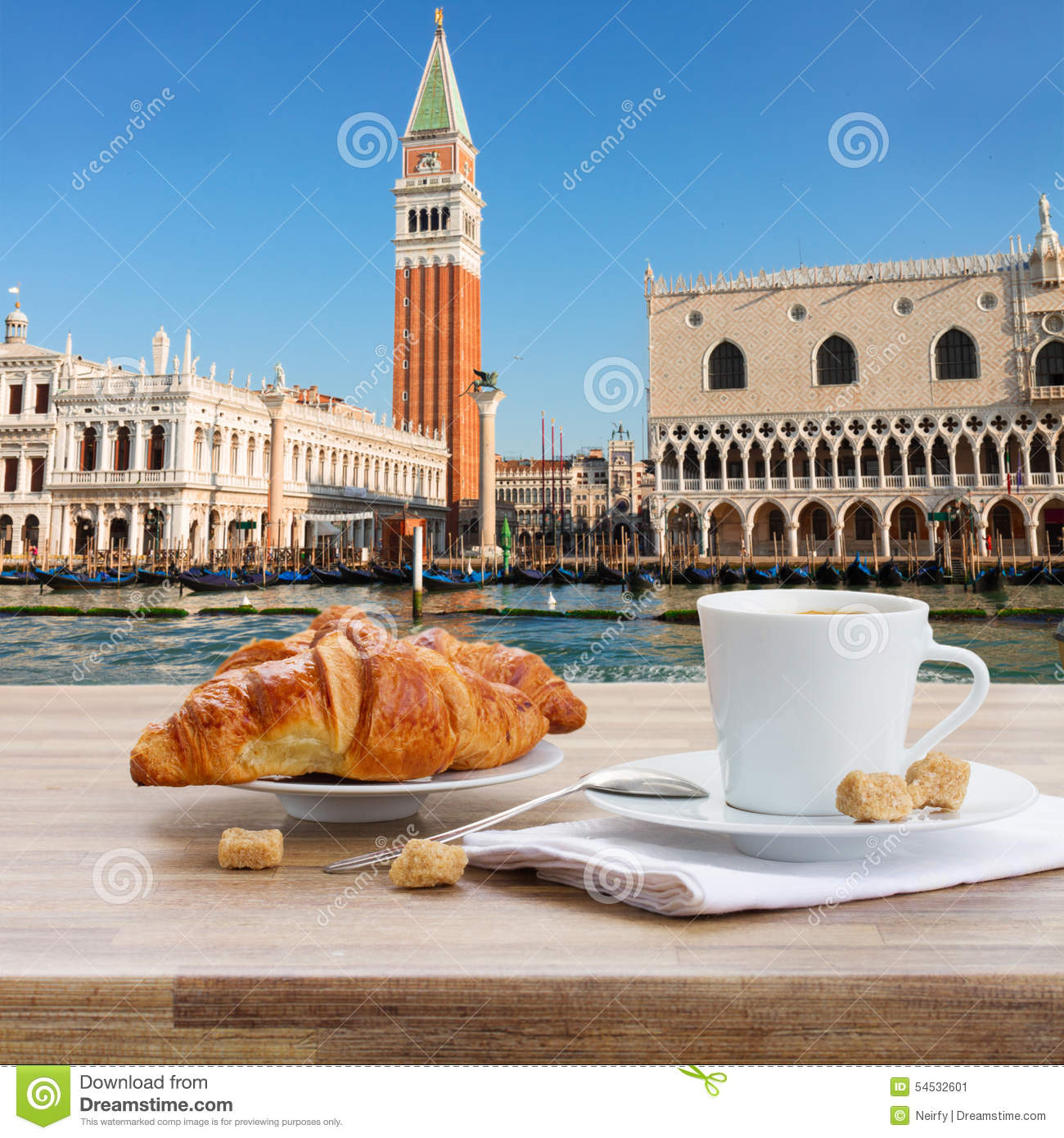 Breakfast At Venice Italy Stock Image Image Of Palace