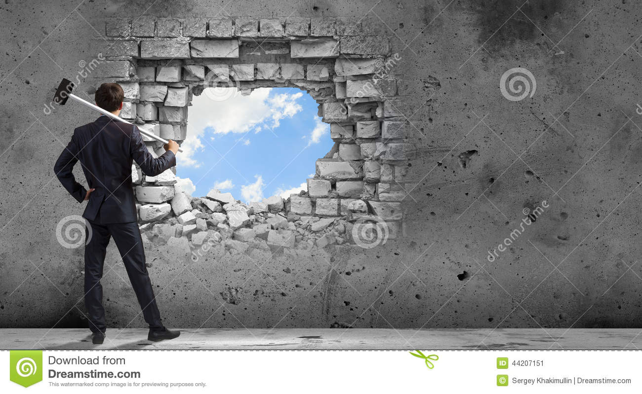Breaking Barriers Stock Photo Image 44207151