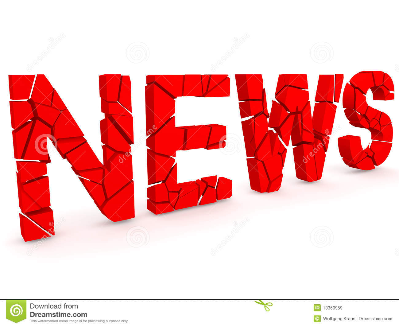 Breaking news stock illustration  Illustration of information - 18360959