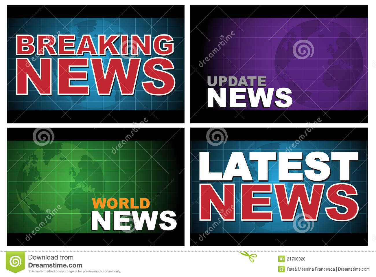 Breaking news stock vector  Illustration of blue, isolated