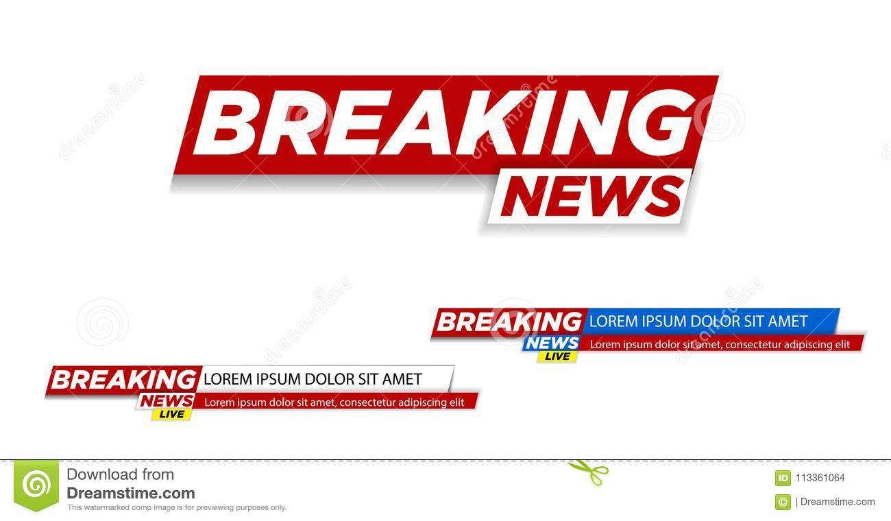 Download Breaking News Live On World Map Background Vector Illustration Stock