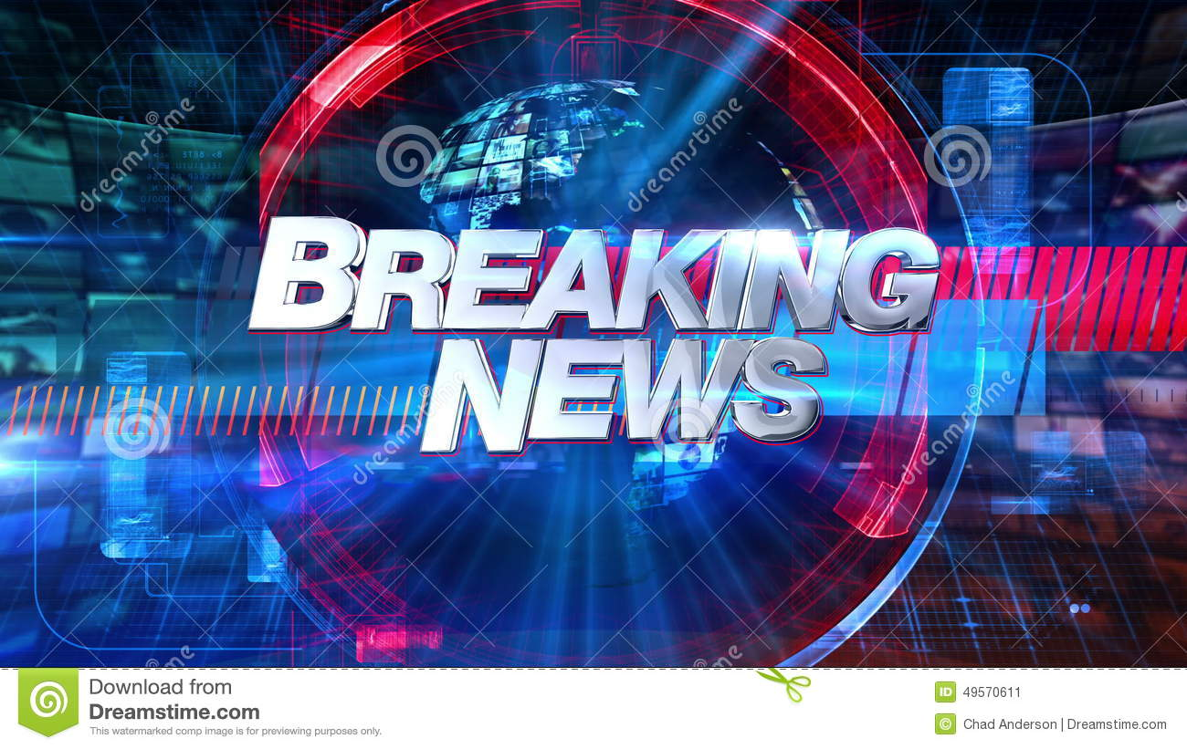 Breaking News - Broadcast Animation Graphic Title 4K Stock
