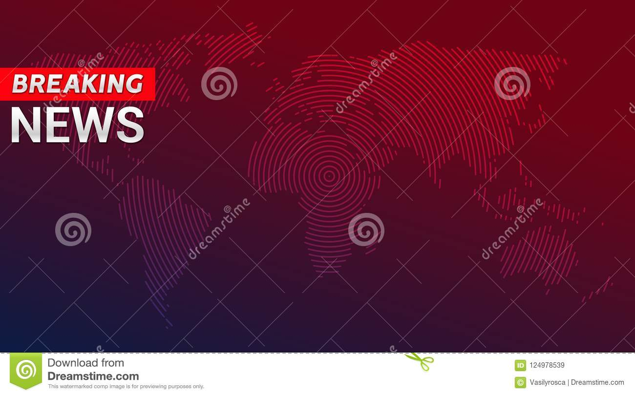 Breaking News Broadcast Concept Design Template For News Channels Or