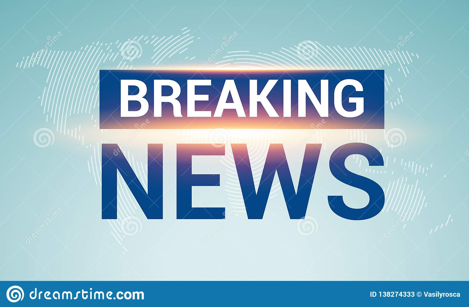 Breaking News Broadcast Concept Design Template For News