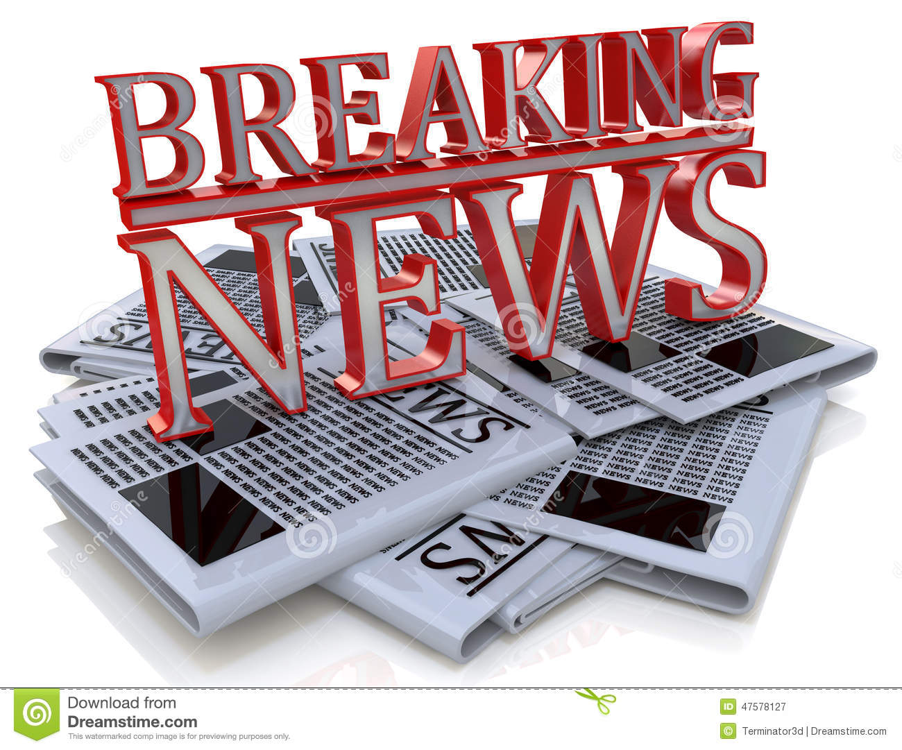 Breaking News Graphic Daily News Newspaper Stock ...