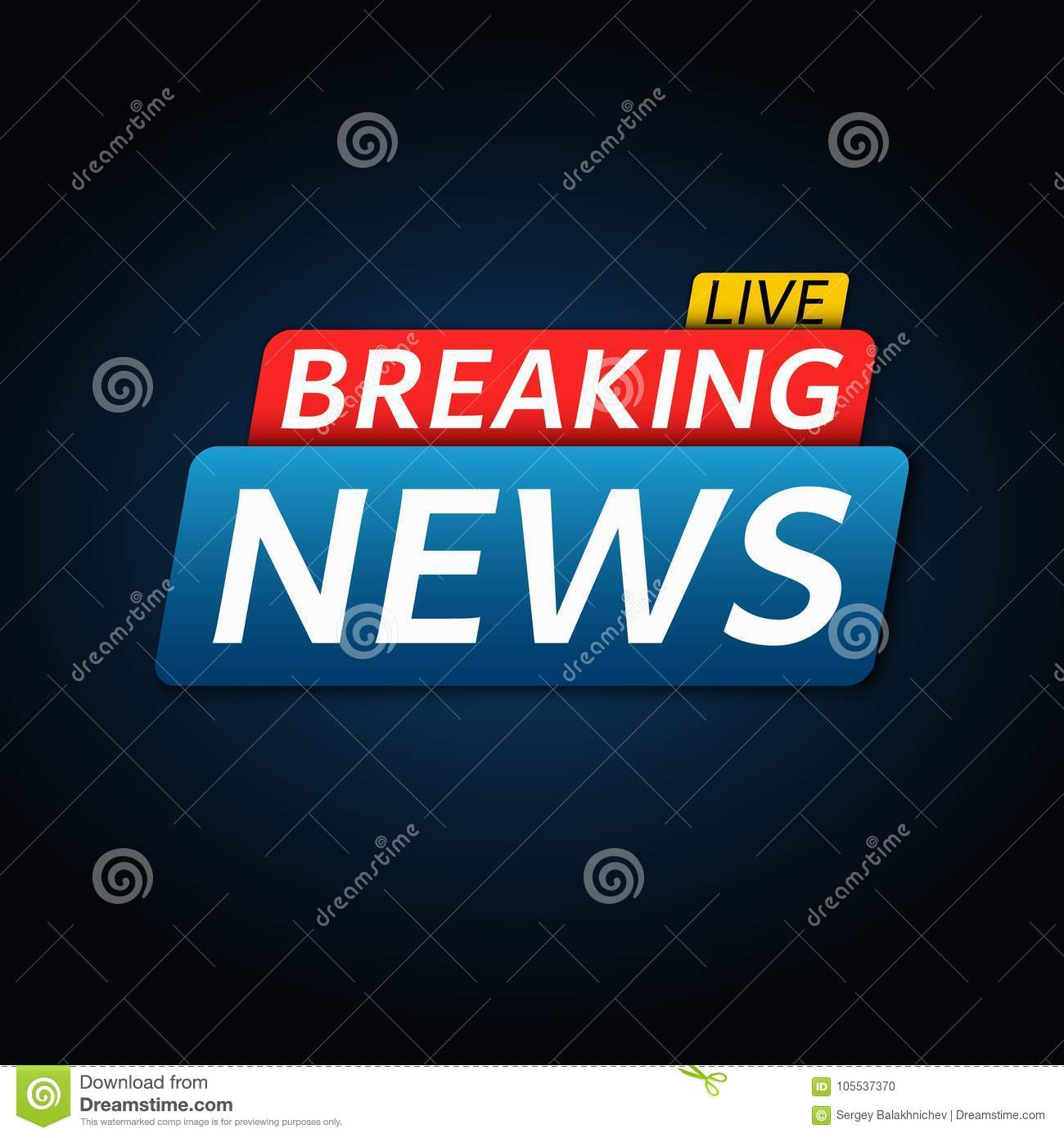 Download Breaking News Live Abstract Red Blue Banner With White Text Dark Background